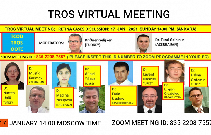 January 17 - Online Meeting of TROS members